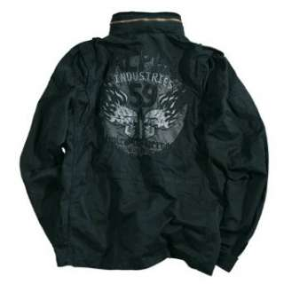 Alpha Industries Field Jacket Burning Skull,  Bekleidung