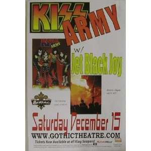Kiss Army Denver 2001 Concert Poster