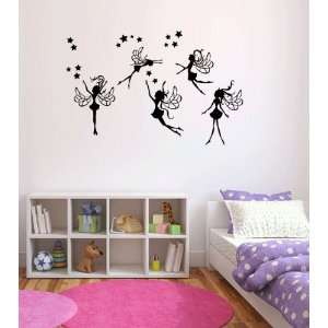 Fairies Vinyl Wall Decal Sticker Graphic By LKS Trading Post Baby