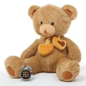 Cupid Hugs Big Cute Amber Heart Teddy Bear 36in Toys & Games