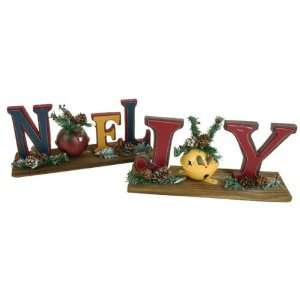 Large Noel / Joy Table Top Decor Case Pack 12   754860