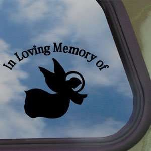 In Loving Memory Angel Black Decal Truck Window Sticker
