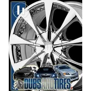 17 Inch 17x7.5 HELO wheels HE827 Chrome wheels rims