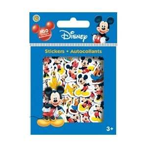 Disney Mickey Mouse Sparkle Diecut Scrapbook Stickers