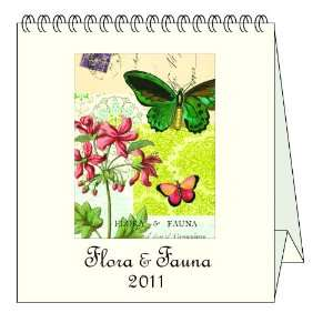 Cavallini Desk Calendar Flora and Fauna: Office Products