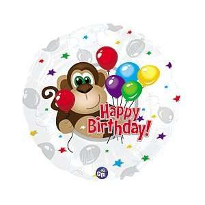 Happy Birthday! Monkey Stars Red 18 Balloon Mylar: Toys