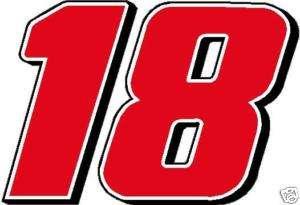 18 Kyle Busch Racing Decal Sticker   Large
