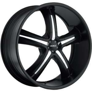 Boss 334 22x9.5 Black Wheel / Rim 5x5 with a 14mm Offset and a 94.62