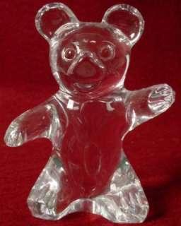 DAUM crystal TEDDY BEAR Figurine no box