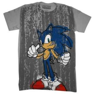 Sonic The Hedgehog Sega Graffiti Video Game T Shirt Brand New Item
