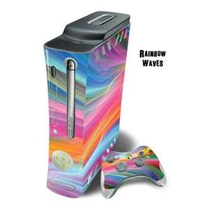 Cover for Xbox 360 Console + two Xbox 360 Controllers   Rainbow Wave