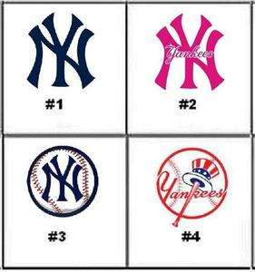 New York Yankees Nail Decals Set of 20   Choice of 4 designs