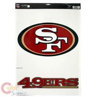 San Francisco 49ers Window Clings Decal 11x17 Big Logo
