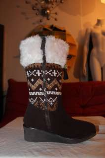 MICHAEL KORS Kids Girl Knee Hi Eskimo Boot Shoes Sz 1