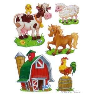 Kids Baby Room 3D Farm Animals Wall Mural Sticker Decal