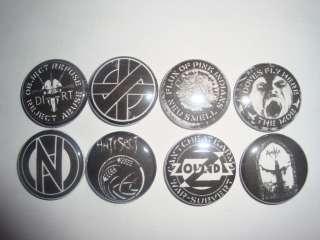 Buttons Pins Badges Crass Zounds Conflict Antisect Mob Amebix Flux