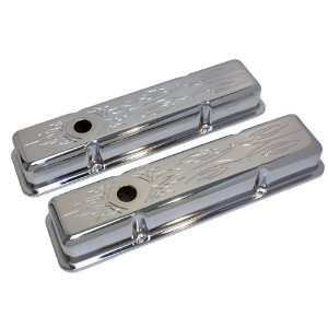 1958 86 Chevy Small Block 283 305 327 350 400 Short Steel Valve Covers
