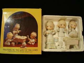 Precious Moments 6 PC Nativity Manger Set #0508