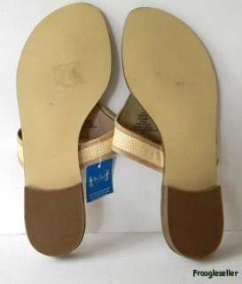 Miss Trish womens thong sandals shoes 9.5 M tan