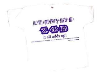 Zeta Phi Beta Sorority Equation Series T shirt