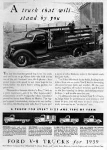 1939 Chevy 1 Ton Pickup Truck Original Ad