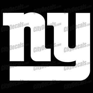 NEW YORK GIANTS NY LOGO   VINYL WINDOW DECAL