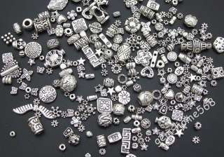 10 LB Mixed Tibetan Silver Beads Spacers M2