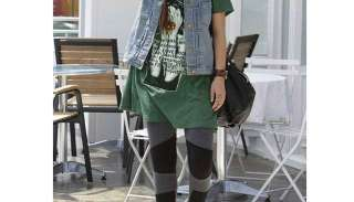 Quality Womens Ladies Warm Patterned Black Leggings Pants Tights 1022