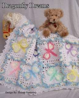 Dragonfly Dreams Baby Afghan Crochet Pattern by