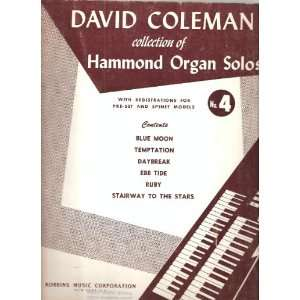 : DAVID COLEMAN Collection of HAMMOND ORGAN SOLOS with Registrations