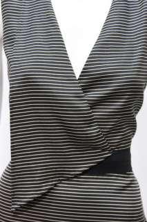 Phillip Lim womens single lapel black beige sleeveless silk dress