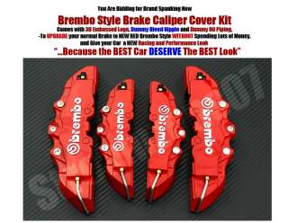BMW E36 E46 E60 E90 E91 Brembo Style Brake Caliper Cover Kit Free