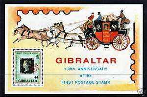 Gibraltar 1990 150th Anniv.Penny Black MS637 MNH