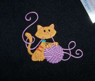 Cute Kitty Cat & Ball of Yarn Essential Knitting or Crochet Kitten