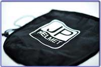 JP Jet open face vintage motorcycle black helmet A