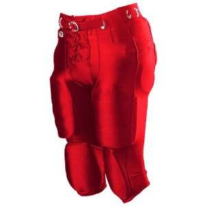 Alleson Youth Nylon/Spandex Football Pants SC   SCARLET