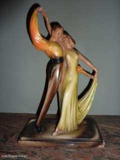 Vintage 1930s art deco dancers figurine