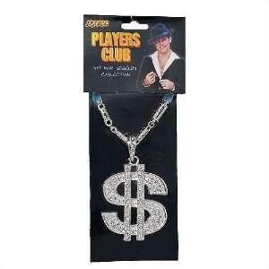 Silver Hip Hop Money Necklace Toys & Games