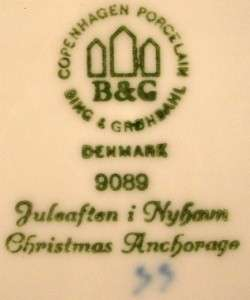 BING & GRONDAHL Christmas Anchorage 1989 Plate