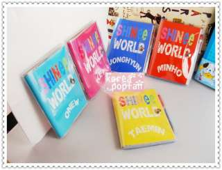 SHINEE SHINee World KPOP BAND ALL MEMBER five color Notebook SET NEW