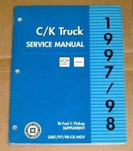 1997 1998 C K Truck Bi Fuel Supplement Service Manual