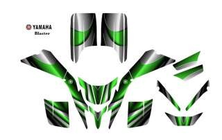 Yamaha Blaster ATV Quad Graphic Decal kit #2222 Green