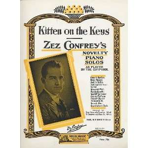 the Keys Zez Confreys Novelty Piano Solos, as Played by the Composer