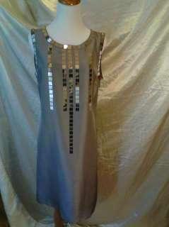 375 NWT Tory Burch Gillies Sequin Silk Dress Sz 10