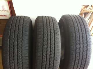 2011 17 Chevrolet Tahoe 3 tires and 4 wheels Goodyear Wrangler HP 265