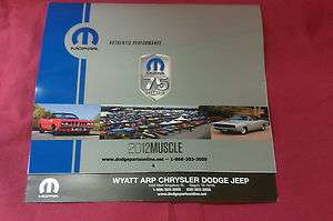 2012 Mopar Muscle Car Calendar   Dodge, Plymouth, Charger, Challeger