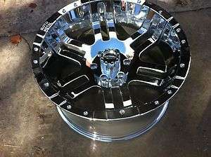 20x10 MOTO METAL 951 ,NEW CHROME RIM/WHEEL 6X135 FORD F 150,NAVIGATOR