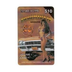 Collectible Phone Card: $10. LowRider Magazine March 1996 Cover: Woman