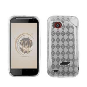 VMG HTC Rezound TPU Rubber Skin Case   Clear Diamond Pattern Design 1