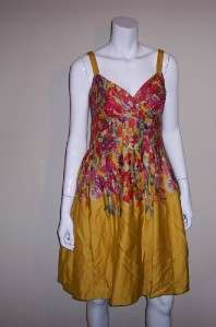 Picone Floral Print Sleeveless Dress Size 4 2569 701644124687